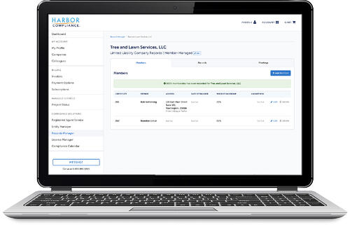 Screenshot of Records Manager
